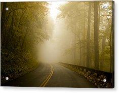 Autumn Mist Blue Ridge Parkway Acrylic Print