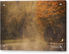 Autumn Mist Acrylic Print by Julie Palyswiat