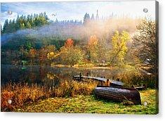 Autumn Mist Acrylic Print by Tom Schmidt