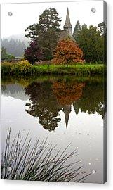 Autumn Mistyness Acrylic Print by Shirley Mitchell