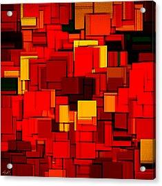 Autumn Modern Abstract Xv Acrylic Print by Lourry Legarde