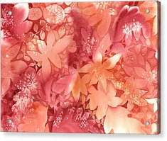 Autumn Monochrome Acrylic Print by Neela Pushparaj