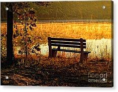 Autumn Morning At The Lake Acrylic Print