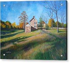 Autumn Morning Acrylic Print by Diane Hutchinson