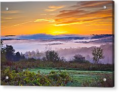 Autumn Morning In The Hills Acrylic Print
