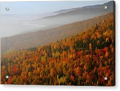 Autumn Mountains At The Cabot Trail Acrylic Print