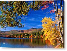 Autumn Mt Chocorua Nh Acrylic Print by Michael Hubley