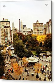 Autumn - New York Acrylic Print