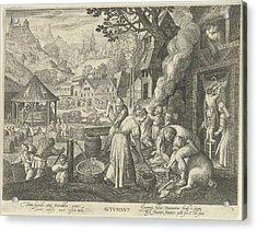 Autumn, Nicolaes De Bruyn, Marten De Vos Acrylic Print