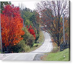 Autumn On A Country Road Acrylic Print