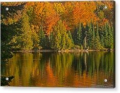 Autumn On Grand Sable Lake Acrylic Print
