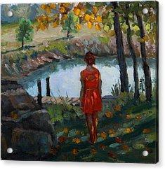Autumn On Jug Creek Acrylic Print