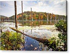 Autumn On Monksville Reservoir - Long Pond Ironworks Acrylic Print by Gary Heller