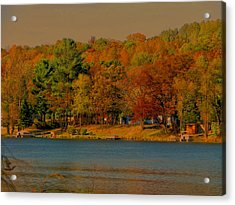 Autumn On Mt Noris Lake Acrylic Print by Victoria Sheldon