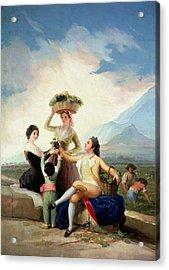 Autumn, Or The Grape Harvest, 1786-87 Oil On Canvas Acrylic Print by Francisco Jose de Goya y Lucientes