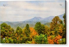 Autumn Palette In The Smokies Acrylic Print