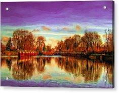 Autumn Park Acrylic Print by Ayse Deniz