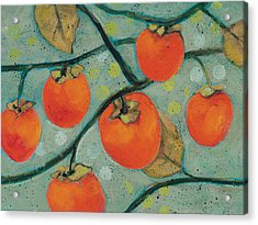 Autumn Persimmons Acrylic Print by Jen Norton