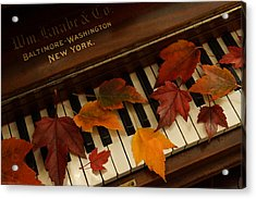 Autumn Piano 14 Acrylic Print