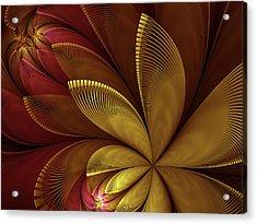Acrylic Print featuring the digital art Autumn Plant by Gabiw Art