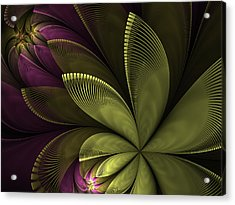 Acrylic Print featuring the digital art Autumn Plant II by Gabiw Art