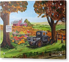 Autumn Pleasures Acrylic Print by Jack G  Brauer