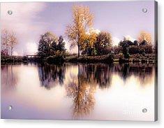Autumn Pond Acrylic Print by Elaine Manley