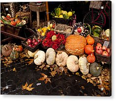 Autumn Produce Acrylic Print by Rae Tucker
