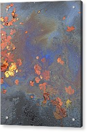 Autumn Puddle Acrylic Print