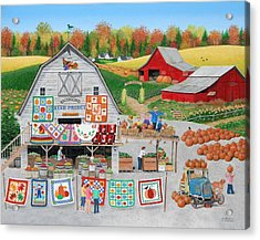 Autumn Quilts Acrylic Print by Wilfrido Limvalencia