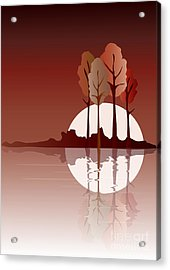 Autumn Reflected Acrylic Print by Jane Rix