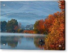 Acrylic Print featuring the photograph Autumn Reflection by Lynn Hopwood