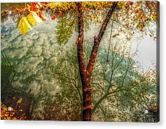 Acrylic Print featuring the photograph Autumn Reflection  by Peggy Franz