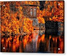 Autumn Reflections  Acrylic Print by Bob Orsillo