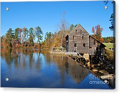 Autumn Reflections At Yates Mill Acrylic Print