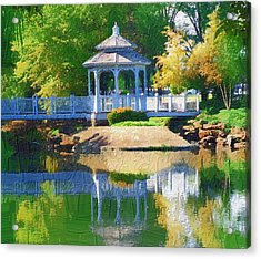 Acrylic Print featuring the photograph Autumn Reflections by Diane Miller