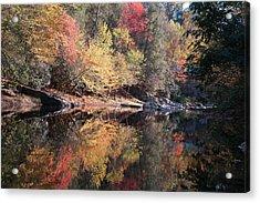 Autumn Reflections Acrylic Print by John Saunders