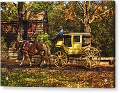 Autumn Ride Acrylic Print by Joann Vitali