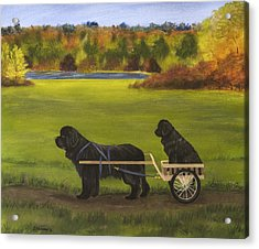 Acrylic Print featuring the painting Autumn Ride by Sharon Nummer