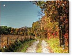 Autumn Ridge Acrylic Print