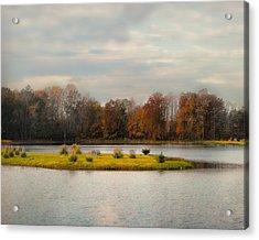 Autumn Rising At The Duck Pond - Autumn Scene Acrylic Print by Jai Johnson