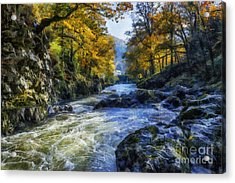 Autumn River Valley Acrylic Print