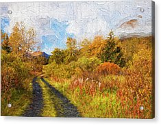 Autumn Scenic Oil Painting Acrylic Print by Marion Owen