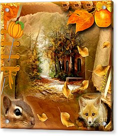Autumn Scrap Acrylic Print