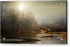 Autumn Sheds Acrylic Print