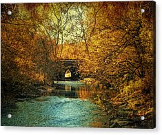 Autumn Shimmer Acrylic Print by Jessica Jenney