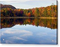 Autumn Shoreline Reflection Acrylic Print