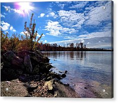 Autumn Shores Acrylic Print by Ron Grafe