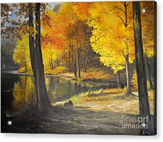 Autumn Silence  Acrylic Print by Sorin Apostolescu