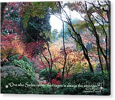 Autumn Smile Acrylic Print by Marlene Rose Besso